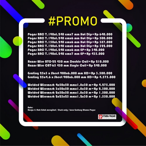 PROMO / SPECIAL PRICE FOR YOU « Supplier Pagar BRC
